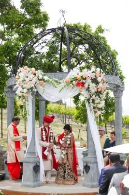 Hindu Wedding of Zach Jones and Veena Goel officiated by Vijay Rajvaidya