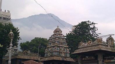 A view of Arunachala from Arunchaleswarar temple