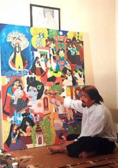 Kartik Trivedi in studio