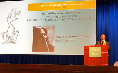 India Currents Wins NAM award for Outstanding Coverage of Education