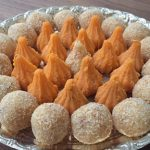 In the Festival Season: Kesar Peda Modak and Gulkand Coconut Ladoo