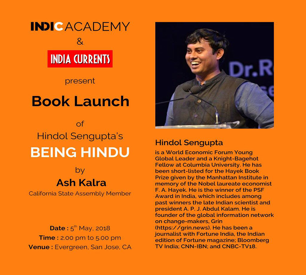Being Hindu, a Book Reading