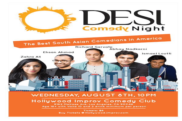 Desi Comedians at the Hollywood Improv