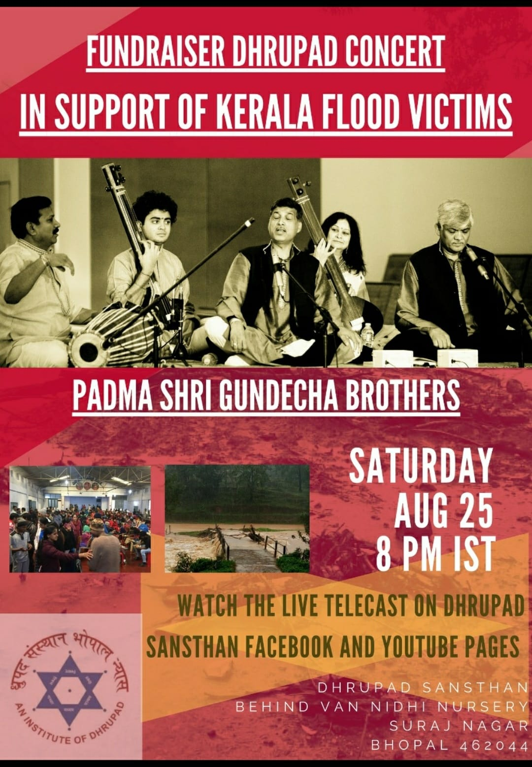 Dhrupad Concert by Gundecha Brothers, Fundraiser for Kerala