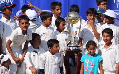 Cricket World Cup Trophy in the Bay Area