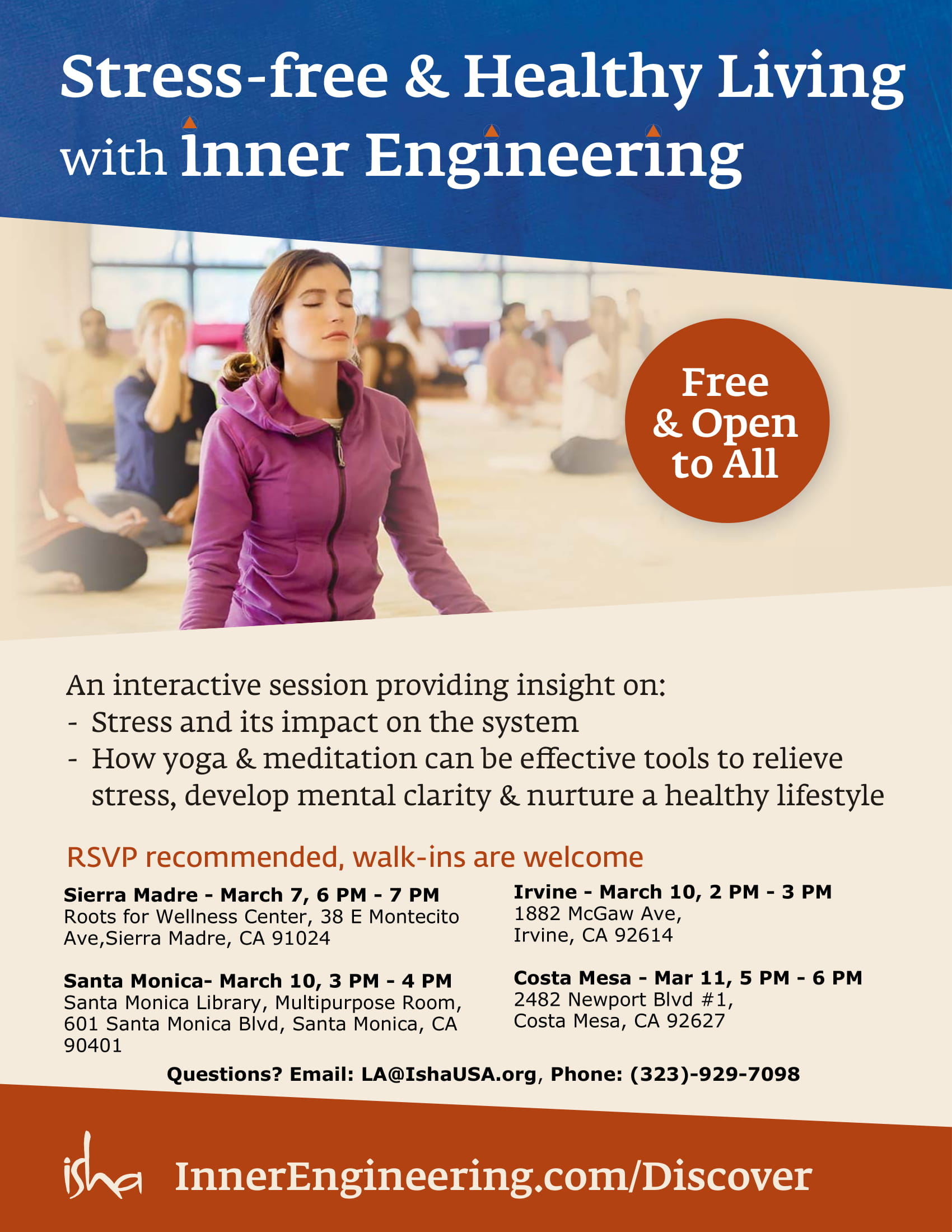 Stress free & Healthy Living with Inner Engineering