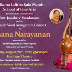 Carnatic Vocal Debut Concert by Sahana Narayanan