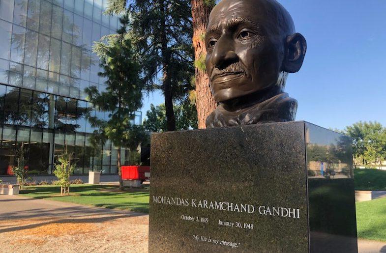 Gandhi's Grandson visits Fresno State