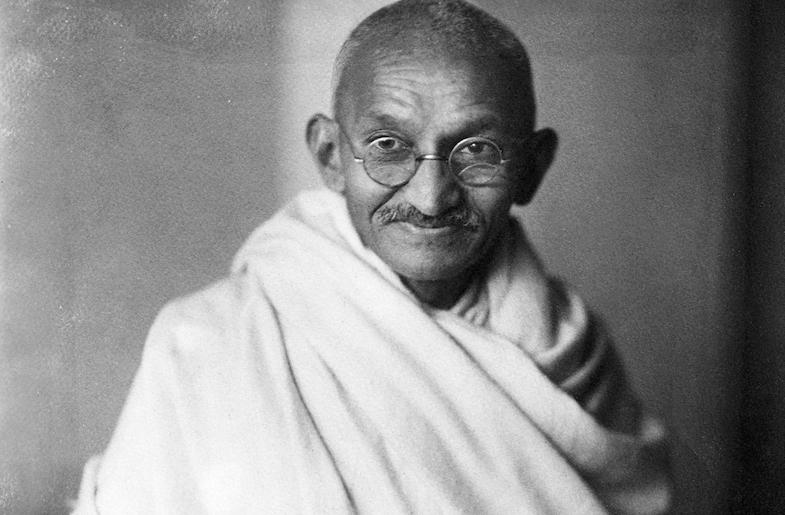 In the Mighty Presence of Gandhi Ji