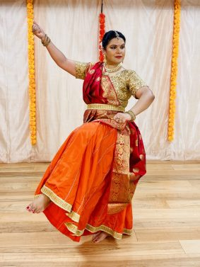 Author and Kathak Dancer, Anupama Srivastava performing Ram Rajya