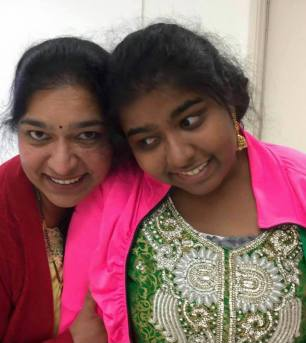 Siri with her mother, Swathi. (Image by Author)