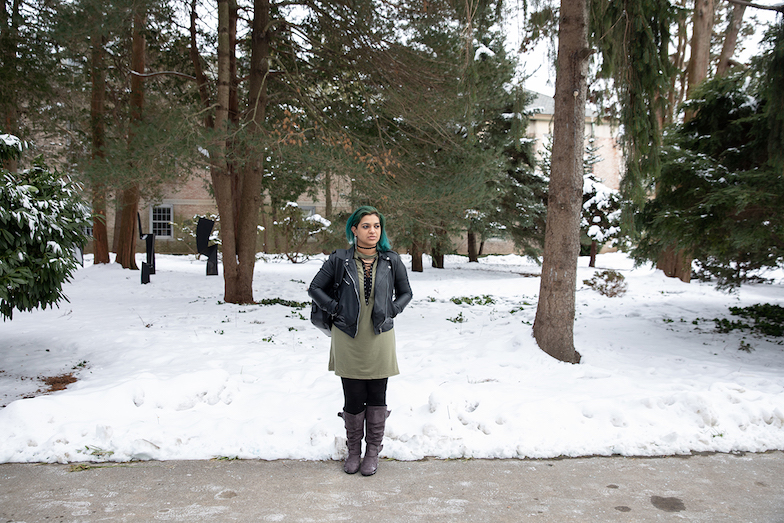 Divya Singh on the Hofstra University campus (Image by Kaiser Health News)