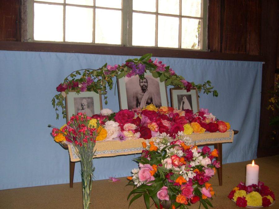 Inside the Meditation Cabin at the Shanti Ashrama.