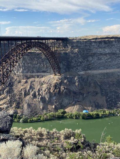 Perrine Bridge over the Snake River Canyon.