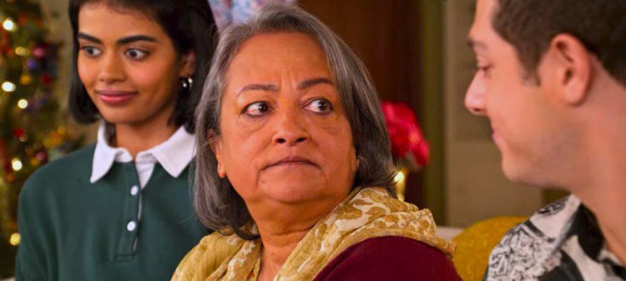 Narmila (Nalini's mother-in-law) played by Ranjita Chakravarty in 'Never Have I Ever'.