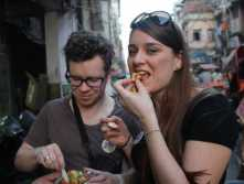 Eating street food safely in India
