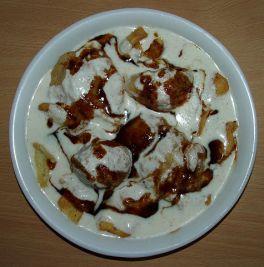 Bhalla_Papri_Chaat_with_saunth_chutney, Chaat Indian street food