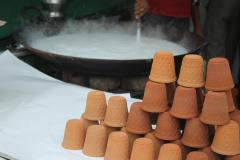 hot milk in clay glasses, Best food tour packages of India