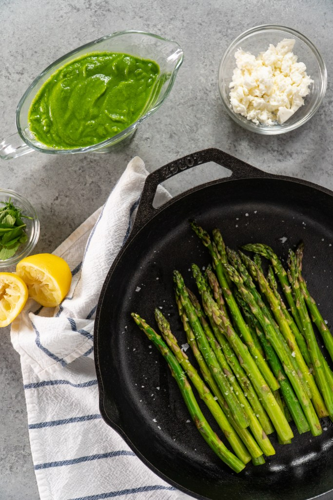 Asparagus with Spring Pea Puree