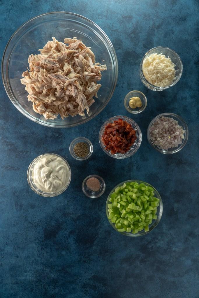 Parmesan Bacon Chicken Salad Ingredients