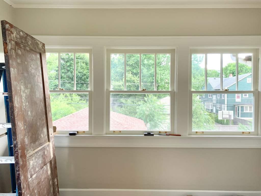 Freshly painted windows