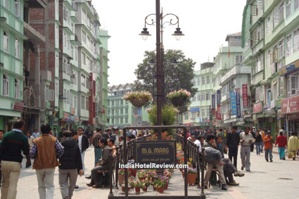 MG Marg of Gangtok invigorates with a relaxed pace