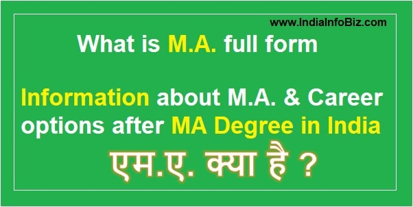 MA full form | Master of Arts Degree