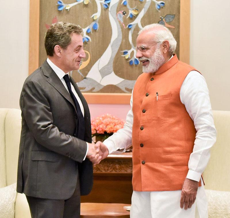 French Former President Sarkozy Meets Modi