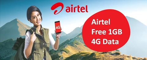 Airtel Internet Loot Get 1GB 4G Data Absolutely Free