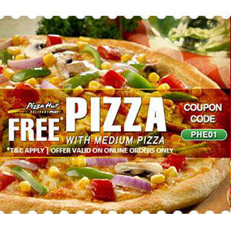 Buy 1 Pizza Get 1 Free On Medium Signature / Supreme Pan Pizza - Pizza Hut