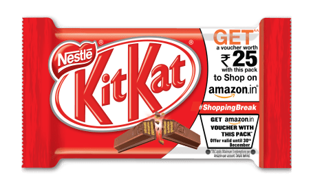 Buy KitKat & Get Free Amazon Voucher Of Rs 20 & Rs 25
