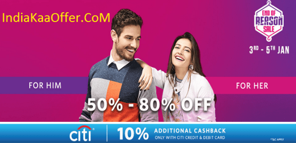 MYNTRA End Of Reason Sale {3rd-5th Jan, 2017}