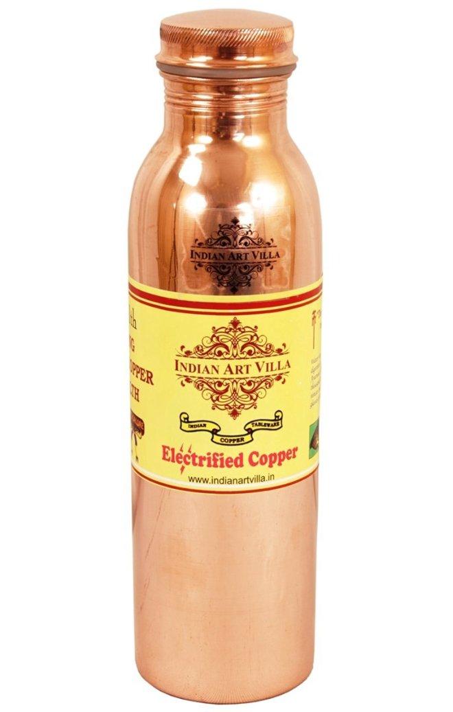 Indian Art Villa Copper yoga Water Bottle