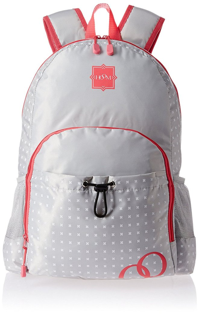 HOOM Polyester Pink School Backpack