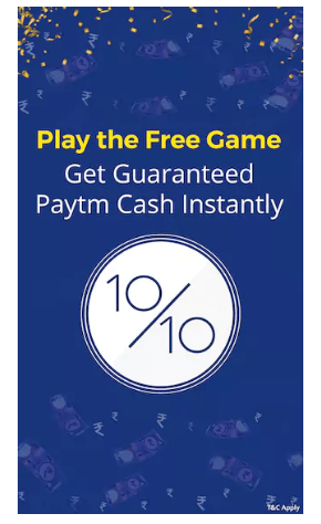 QuizWin Paytm Offer - Play For Free & Win Rs 5 or Rs 1 Paytm Cash