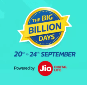Flipkart Big Billion Days Sale Offer 20-24 Sept 2017 : Upto 90% off