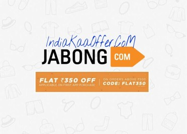 Jabong FLAT350 Shopping Loot - Get Rs 350 Off on Shopping Worth 500