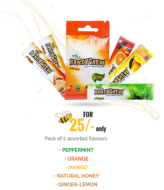 Get HoneyChew 5 Pack Sample Absolutely Free