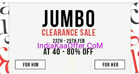 Myntra Jumbo Clearance Sale - Shop on Myntra and Get 40 - 80 % Off
