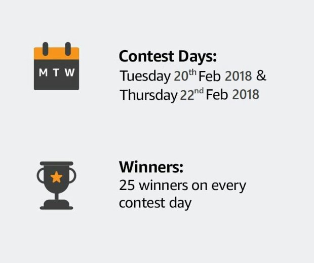 Amazon Cashless Days Contest. Pay online and Win 10000