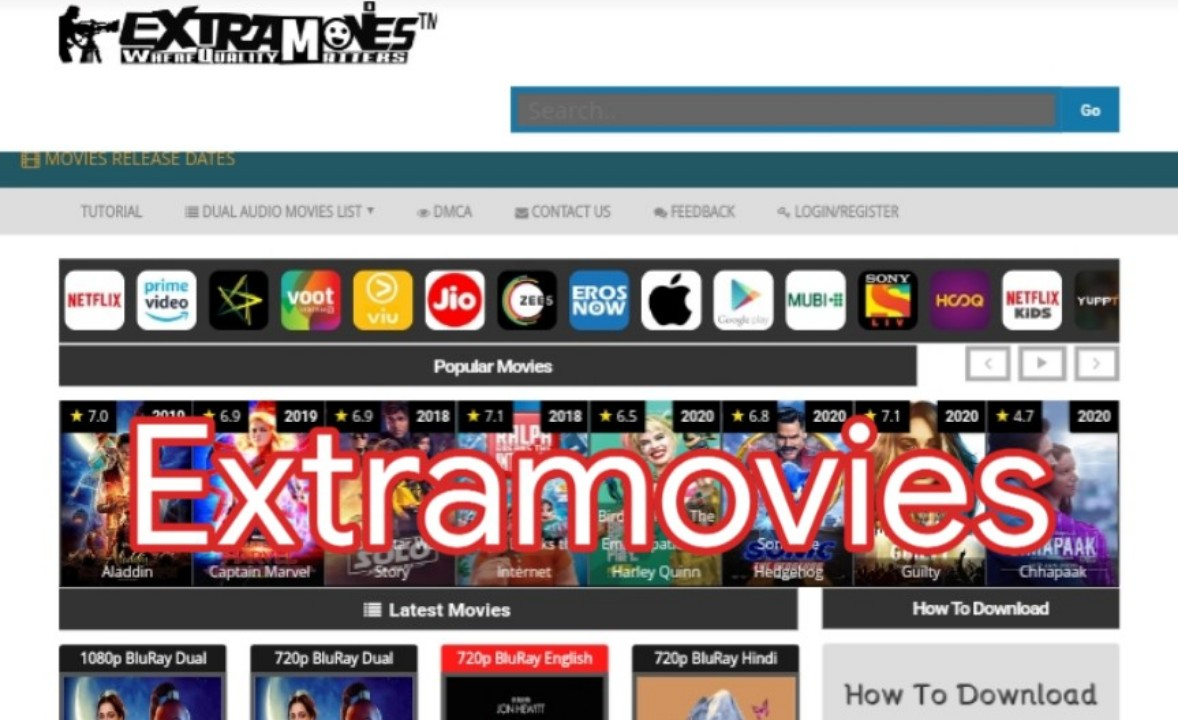 Extramovies 2020 – Full HD Bollywood, Hollywood Movies Download