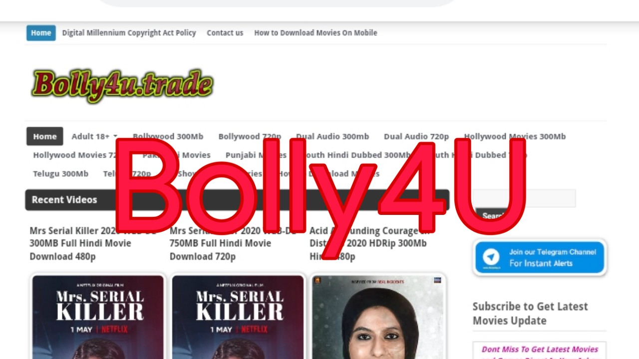 Bolly4U 2020: Latest Bollywood, Hollywood and South Movies Download