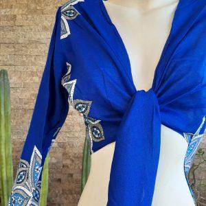 Blusa Algodón Azul