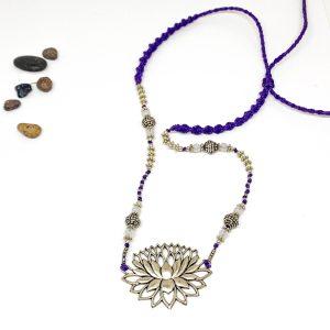 Collar Macramé Lotus