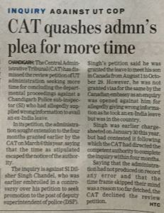 Review of CAT Tribunal Order