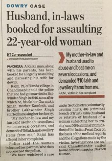 Filing Dowry Harassment Complaint