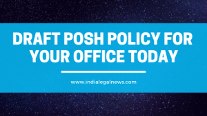 Draft posh policy for your office today