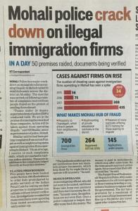 Illegal Immigration Firms in Mohali