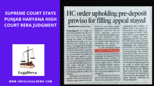 Supreme Court Stay on Haryana RERA Authority