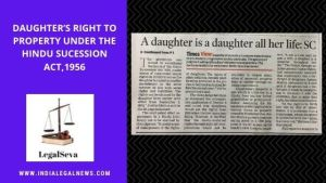 Daughter's Property Rights India Legal Advice Online